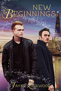 A handsome gay couple set against a City of London backdrop