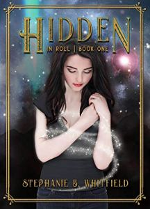 Book cover for Hidden in Roll, showing a teenaged girl casting a spell.